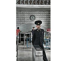 Standing Guard - DPRK Photographic Print