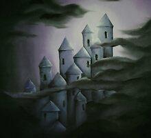 Dark fairytale castle by Lyndsey Hale