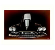 1959 Vette - Hot August Vixen Art Print