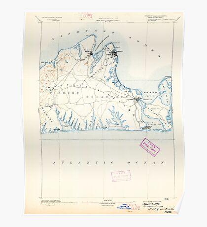Massachusetts  USGS Historical Topo Map MA Marthas Vineyard 352836 1894 62500 Poster