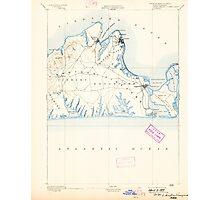Massachusetts  USGS Historical Topo Map MA Marthas Vineyard 352836 1894 62500 Photographic Print
