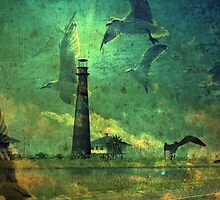 Lighthouse at Boliver Point, Tx. by DottieDees