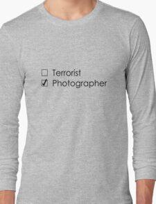 Terrorist Photographer 2 black Long Sleeve T-Shirt