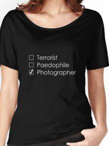 Terrorist Photographer 1 white Women's Relaxed Fit T-Shirt