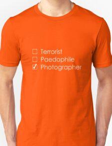 Terrorist Photographer 1 white T-Shirt