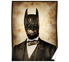 Batman + Abe Lincoln Mashup Poster