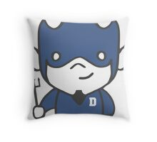 Devil Mascot Chibi Cartoon Throw Pillow