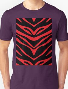 Red N Black Zebra  T-Shirt