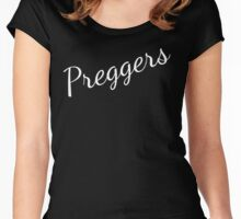 Prego Shirt Pregnant Mom  Women's Fitted Scoop T-Shirt