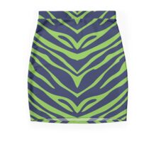 Blue N Green Zebra Mini Skirt