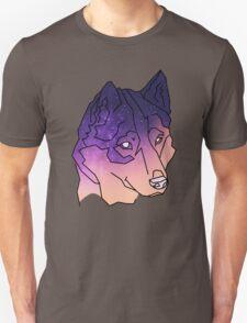 Husky Wolf Sunset Galaxy Unisex T-Shirt