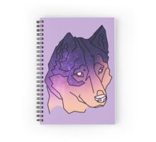 Husky Wolf Sunset Galaxy Spiral Notebook