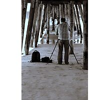 The Photographer Under The Pier Photographic Print