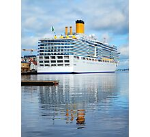 Cruise ship Photographic Print
