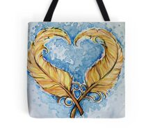 Love will grow feather heart Tote Bag