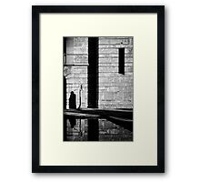 contemplation reflection Framed Print