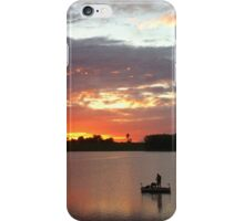 Man and Dog in Boat iPhone Case/Skin