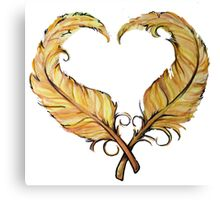 Feather heart Canvas Print