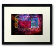 Stardust Periodic Table Framed Print