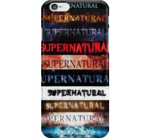 Supernatural intro seasons 1-10 iPhone Case/Skin