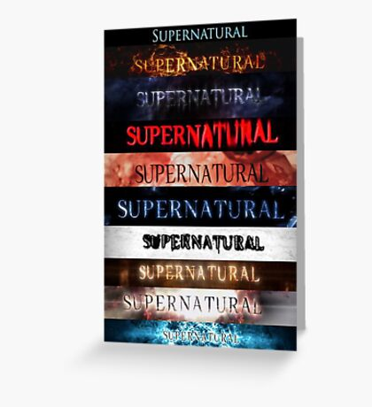 Supernatural intro seasons 1-10 Greeting Card