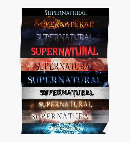 Supernatural intro seasons 1-10 Poster
