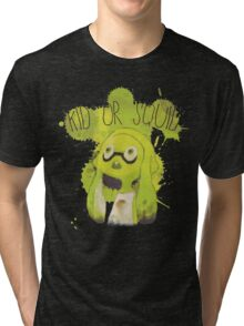 Splatoon Inspired: Squid or Kid Tri-blend T-Shirt