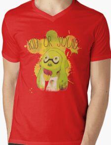 Splatoon Inspired: Squid or Kid Mens V-Neck T-Shirt