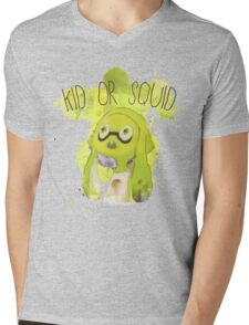 Splatoon Inspired: Squid or Kid Mens V-Neck T-Shirt