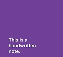 Handwritten Note by foursign