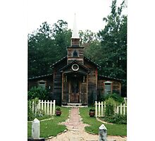 Front View of Ol' Church Photographic Print