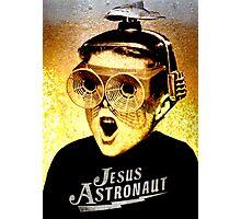 JESUS ASTRONAUT BEER GOGGLES Photographic Print