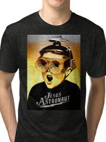 JESUS ASTRONAUT BEER GOGGLES Tri-blend T-Shirt