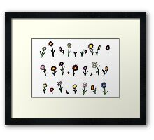 A happy flower garden just for you Framed Print