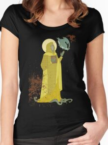 Saint Hastur of the Yellow Sign Women's Fitted Scoop T-Shirt