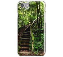 Moss Covered Stairs in the Forest iPhone Case/Skin