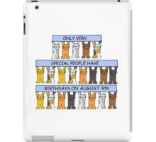 Cats celebrating birthdays on August 9th. iPad Case/Skin