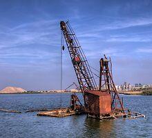 Derelict Marsh Crane by brianfuller75