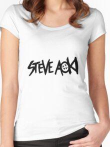 Steve Aoki [ Ultra HD ] Women's Fitted Scoop T-Shirt