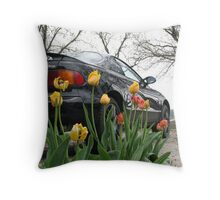 Heavy Metal Meets Nature Throw Pillow
