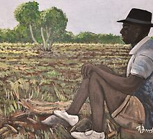 Man in Field  Burkina Faso by rebfrost