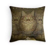 Attention... or 'ceremonious politeness'. Throw Pillow