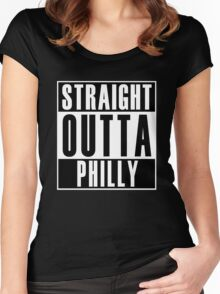 Straight Outta Philly Women's Fitted Scoop T-Shirt