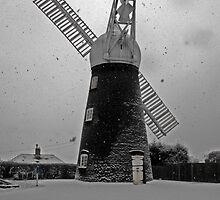 snow falling on Ellis mill by morpeth1865