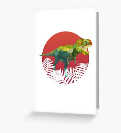 Party Tyrannosaurus Rex Greeting Card