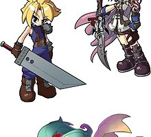 Final Fantasy Heroes Sticker Sheet Collection by 57MEDIA