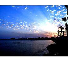 Paphos Harbour Sunset 2, Cyprus Photographic Print