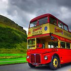 Vintage Red Bus by Alastair Faulkner