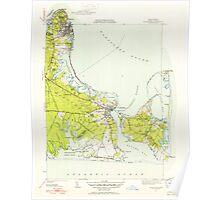 Massachusetts  USGS Historical Topo Map MA Edgartown 351669 1951 31680 Poster