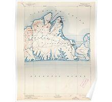Massachusetts  USGS Historical Topo Map MA Marthas Vineyard 352840 1894 62500 Poster